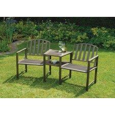 2-Sitzer Gartenbank Doverdale aus Stahl
