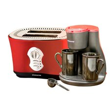 2 Cup Coffee Maker with 2-Slice Toaster