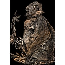 Monkey and Baby Art Engraving (Set of 2)