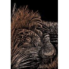 Ducks Art Engraving (Set of 2)