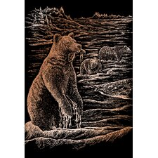 Grizz Bears Art Engraving (Set of 2)