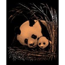 Panda and Baby Art Engraving (Set of 2)