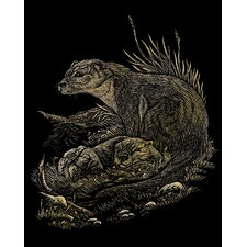 Otters Art Engraving (Set of 2)