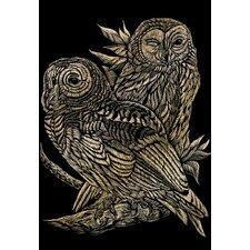 Art Engraving Owls Art Engraving (Set of 2)