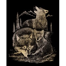 Wolves Art Engraving (Set of 2)