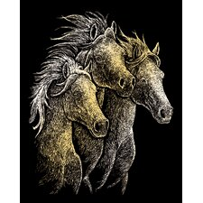 Horses Art Engraving (Set of 2)