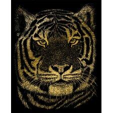 Bengal Tiger Art Engraving (Set of 2)