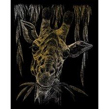 Giraffe Art Engraving (Set of 2)