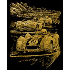 Nostalgic Race Cars Art Engraving (Set of 2)