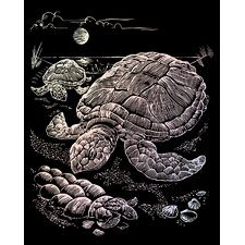 Holographic Sea Turtle Art Engraving (Set of 2)