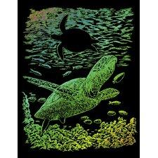 Rainbow Sea Turtle Art Engraving (Set of 2)