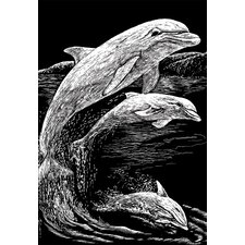 Dolphins Art Engraving (Set of 2)