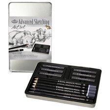Graphite SketchSmall Tin Art Set (Set of 2)