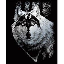 Dragon Wolf Art Engraving (Set of 2)