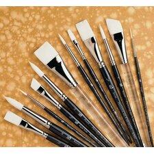 Short Handle Acrylic Round Brush (Set of 2)