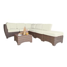Key Biscayne 7 Piece Sectional Set with Cushions