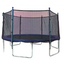 14' Enclosure Trampoline Net Using 6 Straight Poles
