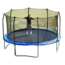 15' Enclosure Trampoline Replacement Net Using 8 Straight Poles