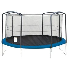 14' Trampoline Enclosure Net Using 4 Arches