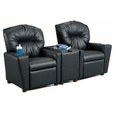 Home Theater Children's Cotton Recliner with Storage Compartment and Cup Holder