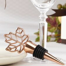 Fall ''Lustrous Leaf'' Bottle Stopper (Set of 10)