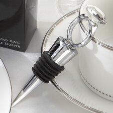 Whimsical  'With This Ring'' Diamond Ring Bottle Stopper (Set of 10)
