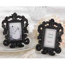 Black Baroque Elegant Place Card Holder / Photo Frame (Set of 15)