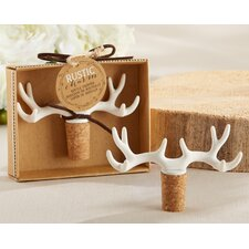 Rustic Charm Antler Bottle Stopper (Set of 12)