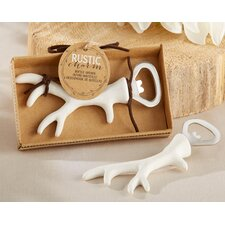 Rustic Charm Antler Bottle Opener (Set of 12)