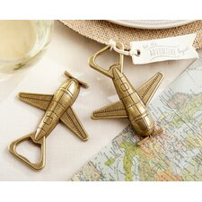 Let the Adventure Begin Airplane Bottle Opener (Set of 12)