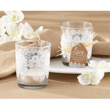 Lace Glass Tealight Holder (Set of 24)