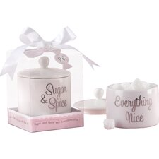 Baby Shower Sugar, Spice and Everything Nice Sugar Bowl with Lid (Set of 10)