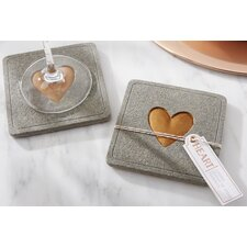 Heart Concrete Coaster (Set of 12)