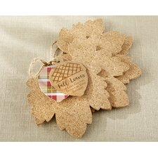 Leaf Cork Coaster (Set of 12)