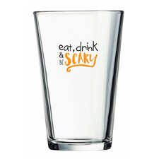 Eat Drink Be Scary Pint Glass 16 Oz (Set of 4)