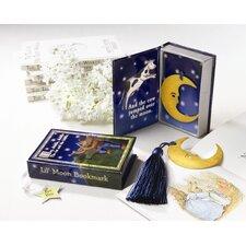 ''Over the Moon'' Vintage Moon with Tassel in Nursery Rhyme Keepsake Book Box Bookmark (Set of 12)