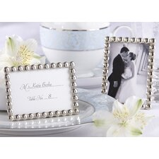 ''Silver Pearls'' Mini Photo Frame (Set of 10)