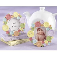 """Cute As A Button"" Round Photo Frame (Set of 12)"