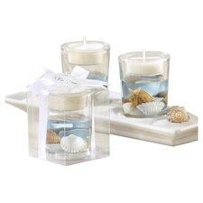 """Seashells"" Seashell Tea Light Holder (Set of 10)"