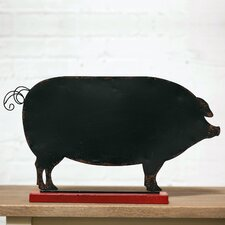 Metal Standing Pig Chalkboard
