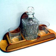 Carafe 3 Piece Crystal and Cognac Glass Set