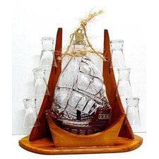 Carafe 7 Piece Sail and Shot Glass Set