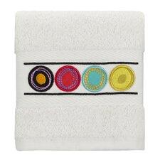 Dot Swirl Embroidered Wash Cloth