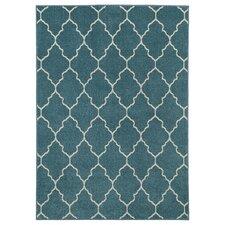 Blue Trellis Indoor/Outdoor Area Rug