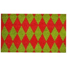 Christmas Argyle Doormat