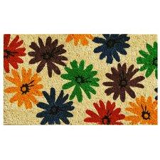Colorful Daisies Doormat