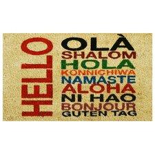 International Hello Doormat