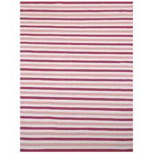 Pink Stripe Area Rug