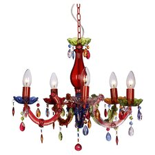Theresa 5 Light Crystal Chandelier