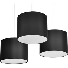 30cm Fabric Drum Pendant Shade (Set of 3)